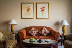 dubai Verano 2016 El interior brillante del hotel Hilton Sharjah Imágenes de archivo libres de regalías