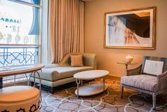 dubai Verano 2016 Interior brillante y moderno el hotel Waldorf Astoria Ras Al Khaimah Imagenes de archivo