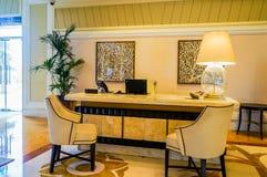dubai Verano 2016 Interior brillante y moderno el hotel Waldorf Astoria Ras Al Khaimah Imagen de archivo libre de regalías