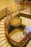 dubai Verano 2016 Interior brillante y moderno la palma Jumeirah de Waldorf Astoria Dubai del hotel Foto de archivo libre de regalías