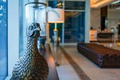 dubai Verano 2016 Interior brillante y moderno la palma Jumeirah de Waldorf Astoria Dubai del hotel Fotos de archivo libres de regalías