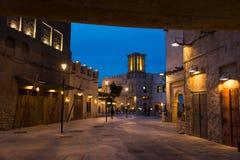 DUBAI, VEREINIGTE ARABISCHE EMIRATE - 30. JANUAR 2018: Al Fahidi Histor Lizenzfreie Stockbilder