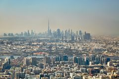 Dubai View from Air Stock Image