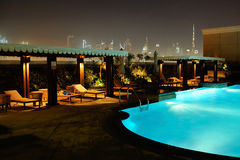 Dubai. View from hotel Ramada Jumeirah Stock Image