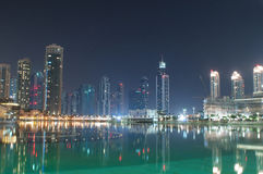 Dubai view at night Royalty Free Stock Photos