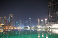 Dubai view at night Royalty Free Stock Photography