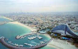 Dubai Vogel-Auge Ansicht lizenzfreie stockfotografie