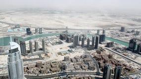 Dubai vom Flug des Vogels Stockfotografie