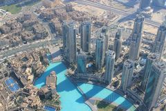 Dubai von oben Lizenzfreies Stockbild