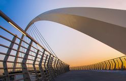 DUBAI WATER CANAL – THE BRIDGE OF TOLERANCE Royalty Free Stock Images
