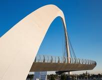 Dubai Water Canal arch bridge. DUBAI, UAE - NOVEMBER 29, 2017: Dubai Water Canal arch bridge Stock Photo
