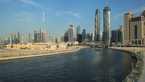 Dubai Water Canal stock video footage
