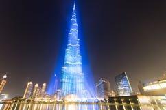 Dubai, welches das Hosting von Ausstellung 2020 feiert Stockfotografie
