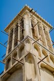 Dubai Wind Tower - Traditional Arabic Architecture. Wind Tower in Dubai Traditional Area of Bastakiya in Bur Dubai Stock Image
