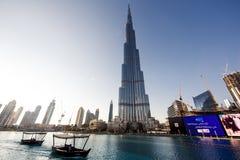 Dubai World Trade center and Burj Khalifa. Royalty Free Stock Photography