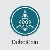 Dubaicoin Digital Currency - Vector Web Icon. Stock Photos