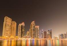 Dubaien - januari 10, 2015: marinaområde på januari 10 i UAE, dubai marinaområdet är populärt bostadsområde Royaltyfri Foto