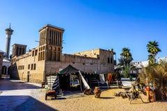Dubaj Al Bastakiya Al Fahidi Dziejowy Neighbourhood obraz royalty free