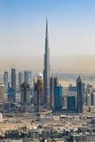 Dubaj Burj Khalifa budynku portreta W centrum pionowo antena vi zdjęcia stock