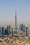 Dubaj Burj Khalifa budynku widok z lotu ptaka W centrum fotografia fotografia royalty free