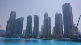 Dubaj Burj Khalifa jezioro Zdjęcia Royalty Free