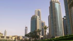 Dubaj centrum handlowego letniego dnia światła centrum handlowego blok 4k uae zbiory