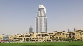 Dubaj centrum handlowego słońca światła hotelu sławny blok 4k uae zbiory