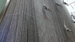 Dubaj centrum handlowego siklawy rzeźba 4k uae zbiory wideo