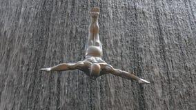 Dubaj centrum handlowego zakończenie up siklawa nurka rzeźba 4k uae zbiory