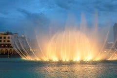 Dubaj Dancingowa fontanna zdjęcia royalty free