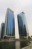 DUBAJ drapaczy chmur budynki, U A e Zdjęcie Royalty Free