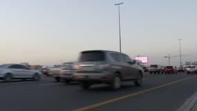 Dubaj drogowego ruchu drogowego zmierzchu główny czas 4k uae zbiory wideo