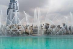 Dubaj fontanny Fotografia Stock