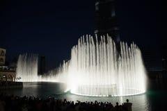 Dubaj fontanny Zdjęcia Royalty Free