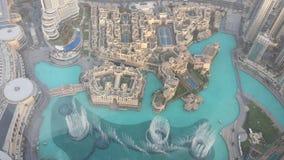 Dubaj fontanny Obrazy Royalty Free