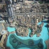 Dubaj fontanny zdjęcie stock