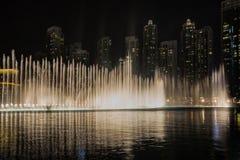 Dubaj fontanny Dancingowy przedstawienie zdjęcie stock