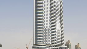 Dubaj fontanny hotelu sławny puszek odgórny widok 4k uae zbiory wideo