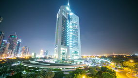 Dubaj góruje noc 4k czasu lekkiego upływ od uae zbiory