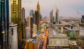 Dubaj godzina szczytu zdjęcie royalty free