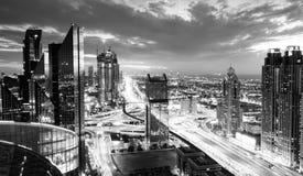 Dubaj godzina szczytu zdjęcia royalty free