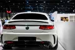 Dubaj Jedzie, Mercedez Benz kąt wystawia ich epickich nowych samochody obrazy royalty free