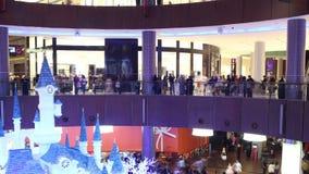 Dubaj 4k czasu centrum handlowe croweded upływ zbiory wideo
