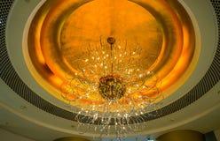 Dubaj Lato 2016 Wnętrze hotelowy Burj al arab Obrazy Stock