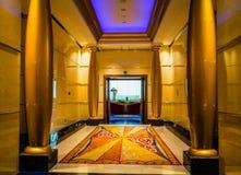 Dubaj Lato 2016 Wnętrze hotelowy Burj al arab Zdjęcia Royalty Free