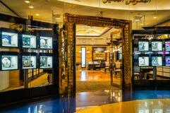 Dubaj Lato 2016 Wnętrze hotelowy Burj al arab Fotografia Royalty Free