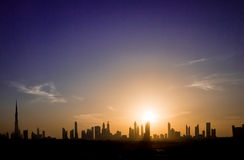 Dubaj linia horyzontu obraz royalty free