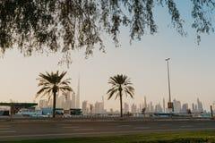 Dubaj linii horyzontu widok zdjęcie royalty free