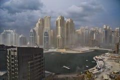 Dubaj Marina budowa Obrazy Royalty Free