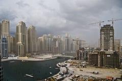 Dubaj Marina budowa Zdjęcia Royalty Free